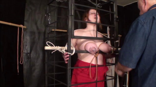 bdsm Manta Cagged Boobs