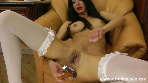 Fisting and Dildo Long Dildo Inside Amazing Hotkinkyjo