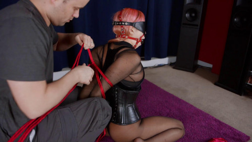 BDSM A Bad Girl Roped In Red