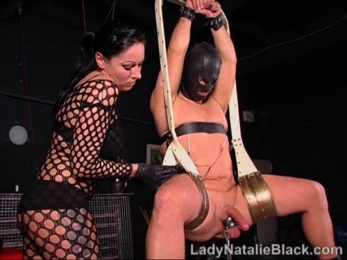 Femdom and Strapon Lady Natalie Black - Anal Bitch