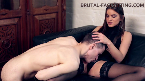 Femdom and Strapon Evelina Darling