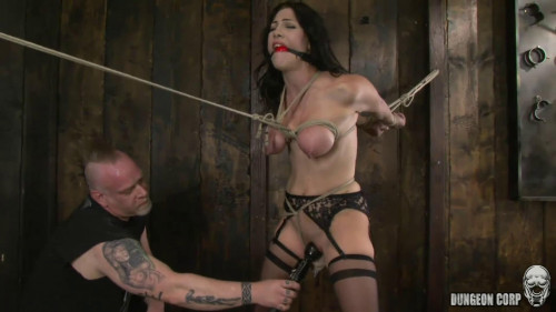 BDSM Bondage, torture, spanking and strappado for hot bitch