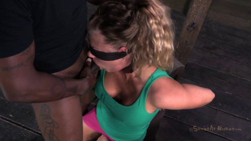 BDSM Lush Newly Milfed Holly Heart Throat Trained Into Next Week By Double Cock!