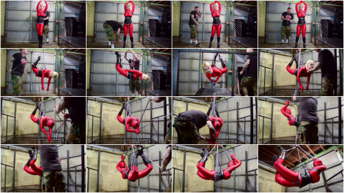 BDSM Living Doll Suspended and Vibed-rope bondage videos