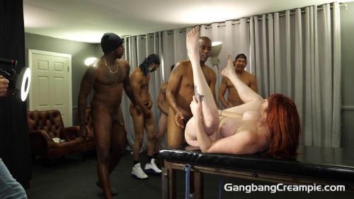 Redhead Milf Lauren Phillips Gets Creampie GangBang