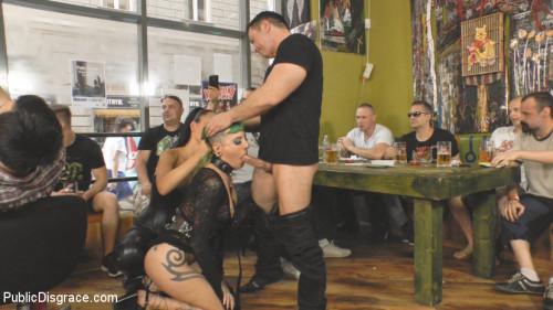 BDSM Disobedient Slut Gets Publicly Punished