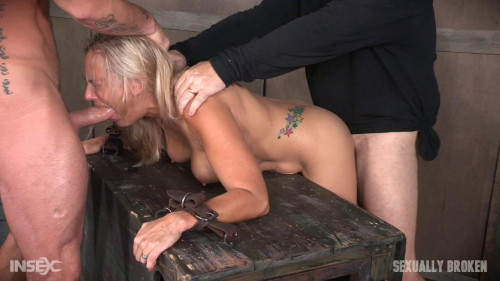 bdsm Angel Allwood Fucked From Both Ends and Made to Cum