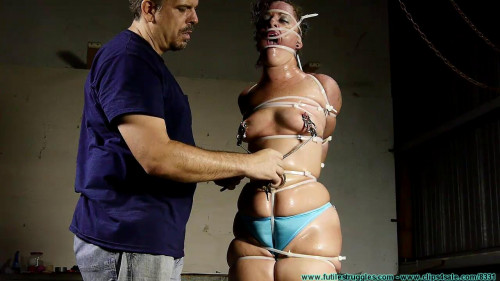 BDSM Fayth on Fire Spanked, Ziptied, and Whipped - Part 3