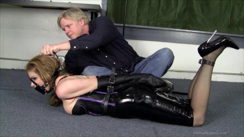BDSM Latex Corseted Leather Strap