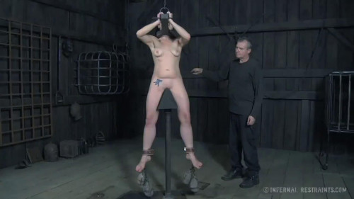 BDSM Hard bonddage, spanking and torture for naked bitch (part 3)