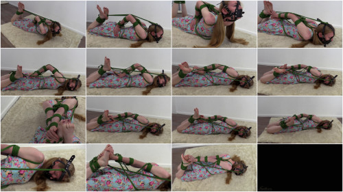 BDSM Muzzle gag hogtie for Cassie