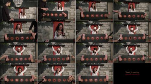 BDSM HD Bdsm Sex Videos Long tickling procedure for Home girl in stocks
