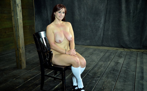 BDSM Bella Rossi and her HUGE natural tits, suffer Category 5 sex play