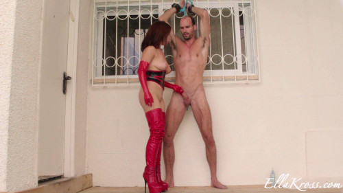 Femdom and Strapon Ruining Another Slaves Orgasm