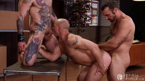 Gay BDSM Sexual His ASSment sc.2  Jaxton Wheeler, Teddy Bryce and John Magnum
