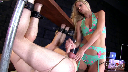 Femdom and Strapon Swallow for Princess