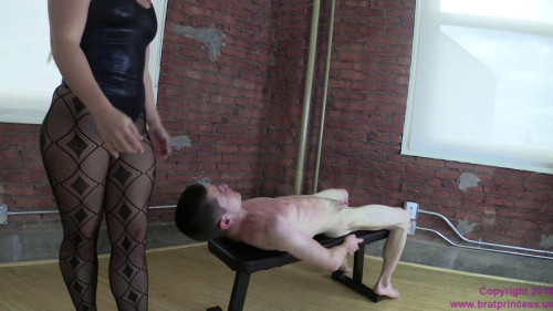 Femdom and Strapon Cali Carter - Scissors Little Slave