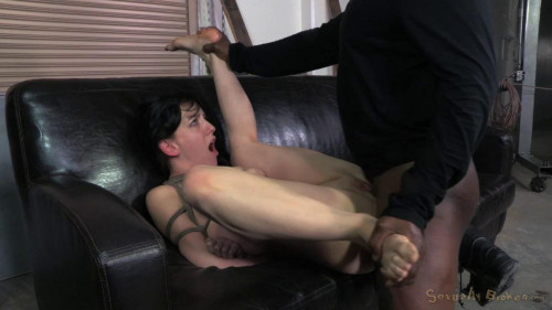 bdsm Tiny Elise Graves ragdoll fucked, brutal deepthroat on 10 inch BBC