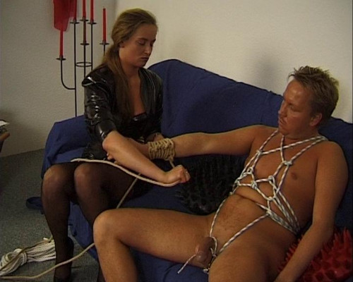 Femdom and Strapon Ropes bring pleasure