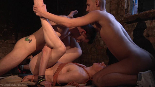 Gay BDSM Bound and Boned. The torture of desire