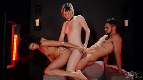 Threesome Barebacking With Alisia Rae & Ella Hollywood