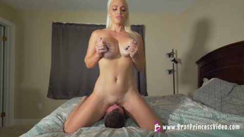 Femdom and Strapon Let Me Cum on Your Face while My Boyfriends Away