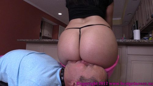 Femdom and Strapon Get Your Face In My Ass So I Can Fart On You
