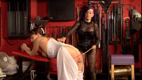 Femdom and Strapon Latex Rubber - Evening Bratty - Domination HD