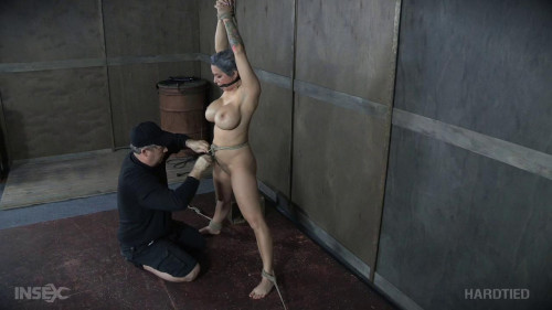 BDSM Torment for Tiny Tramp with Tremendous Tits