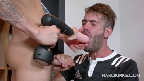Gay BDSM TV Repairman Into Slave (Alec Loob, Axel Max)