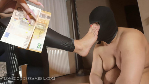 Femdom and Strapon Goddess Amber - Foot Domination
