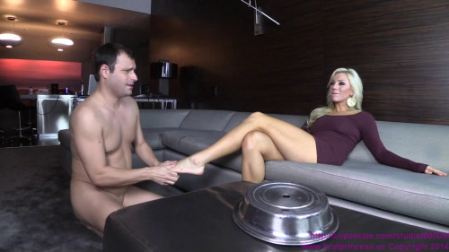 Femdom and Strapon Cuck Surprised by a Homemade Dinner
