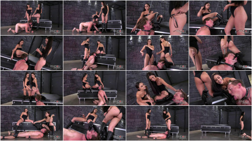Femdom and Strapon Alina Lopez & Ariana Marie - Double Scum