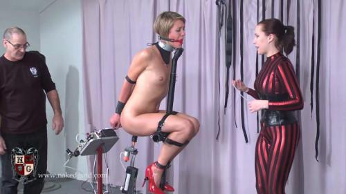 BDSM Quinn rides the Bishop Stand