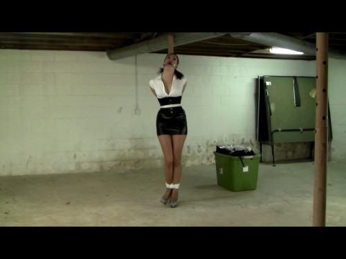 bdsm Bound and Gagged to a Pole