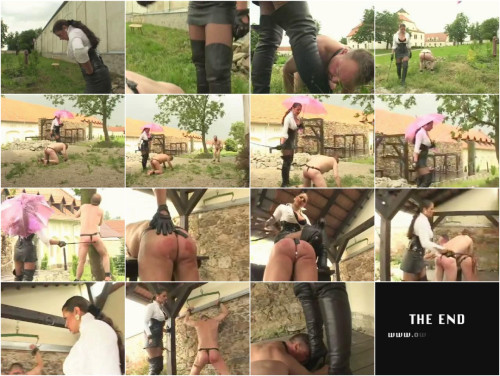 Femdom and Strapon Lady Asmondena - Stormy Day Of Working Slaves