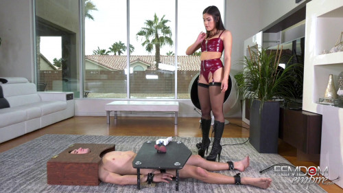 Femdom and Strapon Slave Milking Frustrations