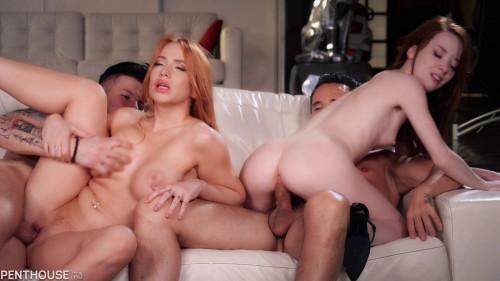 Kiara Lord, Lottie Magne - Impromptu Foursome Orgy (2021)