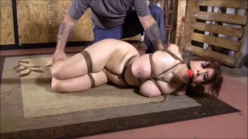 BDSM Hard bondage, hogtie and torture for naked slut