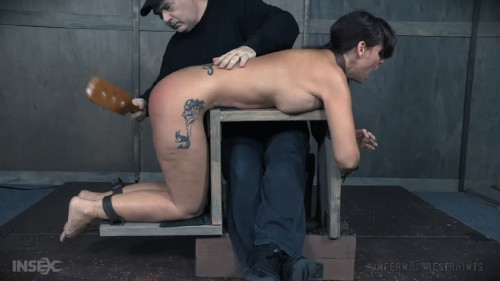 BDSM Bondage, spanking and torture for very horny brunette part 2