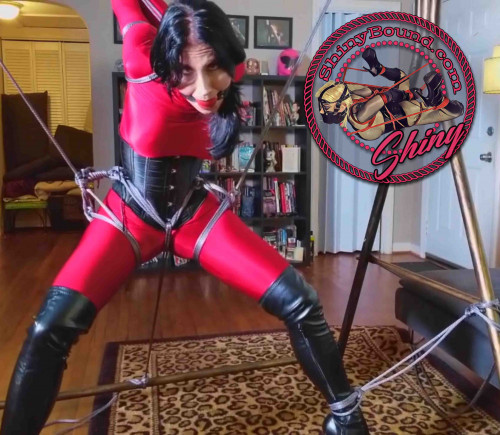 BDSM ShinyB - Raven Eve.. Dynamic Strappado Suspension
