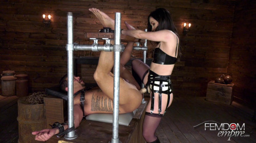 Femdom and Strapon Made for Cock