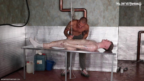 Gay BDSM Wrapped Tied Meat Scene 1