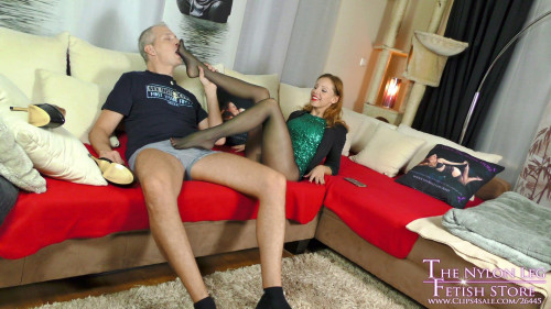 Femdom and Strapon Lurina Party Girl Footjob