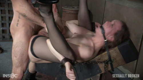 bdsm Sierra Cirque in her fancy stockings and sexy heels is bound and brutally fucked
