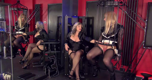 Femdom and Strapon Chastised And Caged Maid Part 2
