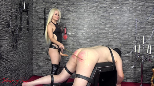 Femdom and Strapon Mistress Sarah A Caning And A Fuck For The Whore