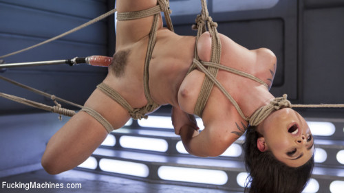 Sex Machines Roxanne Rae is Tied Up and Tormented with Anal Orgasms