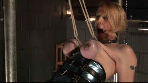 BDSM Latex Extrme Breast Predicament For Breastslave Eva - HD 720p