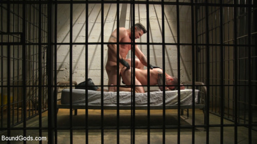 Gay BDSM Prison Punk Scared Straight by Perverted Officer Ducati
